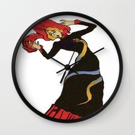 Jane Avril After Henri de Toulouse-Lautrec Wall Clock