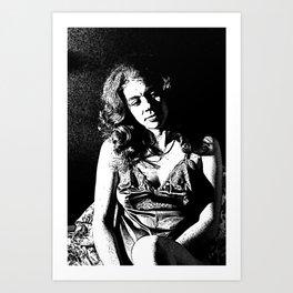 Rosie Reflecting Art Print