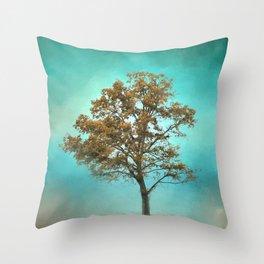 Santa Fe Cotton Field Tree - Landscape Throw Pillow