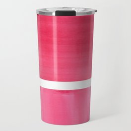 Colorful Bright Minimalist Rothko Pastel Red Pink Midcentury Modern Art Vintage Pop Art Travel Mug