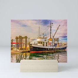 Old Fishing Trawler Mini Art Print