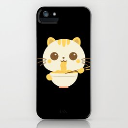 Ramen Cat Shirt Japanese Manga Anime Gift Neko iPhone Case