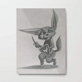 Dave the Warrior Fennec Fox Metal Print