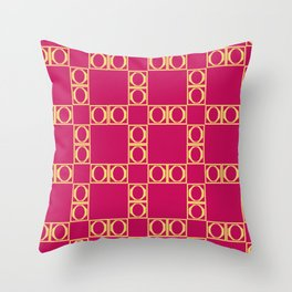 angle red & yellow Throw Pillow