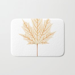 Maple leaf skeleton Bath Mat