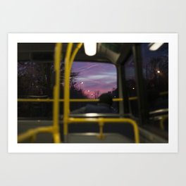 Lonely afternoon ride. Art Print