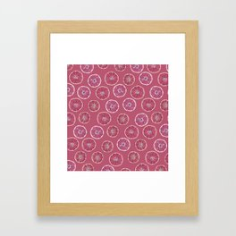 Pink Oranges Pattern Framed Art Print