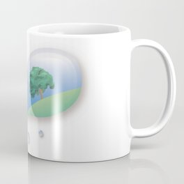 a tree reflected in a drop of water Coffee Mug