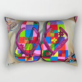 Beach Sandals Rectangular Pillow