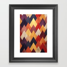 Eccentric Mountains Framed Art Print