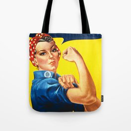 Rosie The Riveter Vintage Women Empower Women's Rights Sexual Harassment Tote Bag