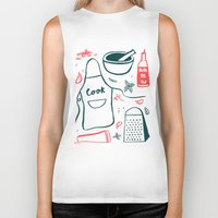 cook Biker Tanks featuring Cook! by Bethany Thompson