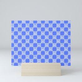 Blue Tiles with Smiles Mini Art Print