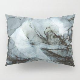 Dark Blue Abstract Painting Pillow Sham