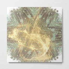 Kaos theory mandala Metal Print