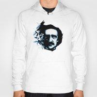 edgar allan poe Hoodies featuring Edgar Allan Poe Crows by Ludwig Van Bacon
