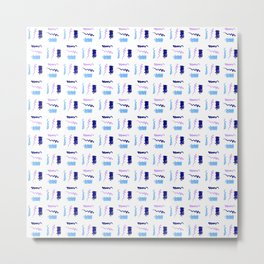 free scribble 11 dark blue, light blue,purple Metal Print