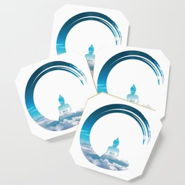 Buddha With Sky Enso Zen Circle of Enlightenment Coaster