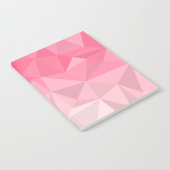 Pink Polygon Notebook