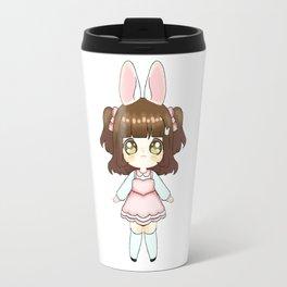 Easter Bunny Chibi Girl (Light Skin Tone) Travel Mug