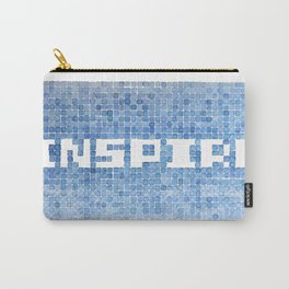 Inspire watercolor mosaic Carry-All Pouch