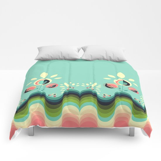 Happy Garden Comforters