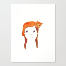 Cat head Canvas Print