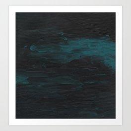 Dark Teal Sea Art Print