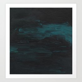 Dark Teal Sea Art Print