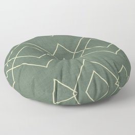 Nudo in Green Floor Pillow