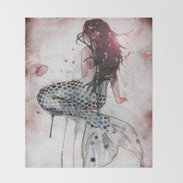 Mermaid II Throw Blanket