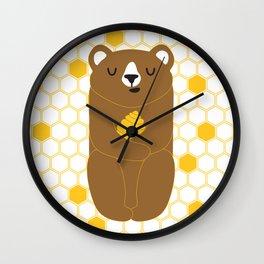 The Honey Bear Wall Clock
