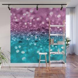 Tropical Beach Lady Glitter #7 #shiny #decor #art #society6 Wall Mural