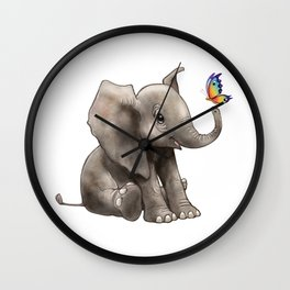 Baby Boo Butterfly Wall Clock
