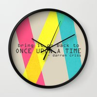 darren criss Wall Clocks featuring Once Upon A Time - Darren Criss (Listen Up Tour) by Nephie