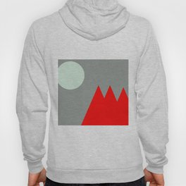 Red Mountains and Moon Hoody