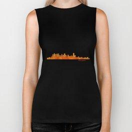 Houston City Skyline Hq v1 Biker Tank