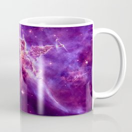 Mystic Mountain nebula. Purple Fuchsia Pink Coffee Mug