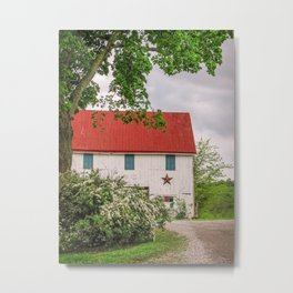 Barn at The Farm Metal Print