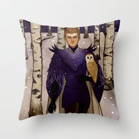 klaine Throw Pillows featuring In the Forest by Sweet Peach Tea