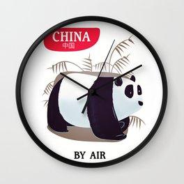 China Panda travel poster Wall Clock