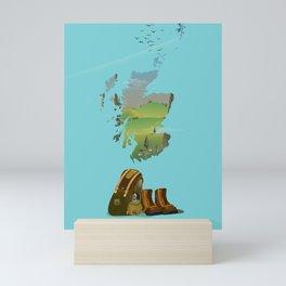 Scotland vintage travel poster. Mini Art Print