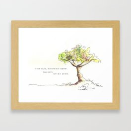 Tree with poem Framed Art Print
