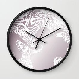 Rose Gold Liquid Marble Effect Design Wall Clock