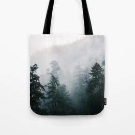 Forest Fog X Tote Bag