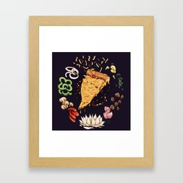 Pizza Mandala Framed Art Print