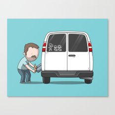 Family Car Sticker Canvas Print