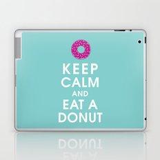 Keep Calm and Eat a Donut Laptop & iPad Skin