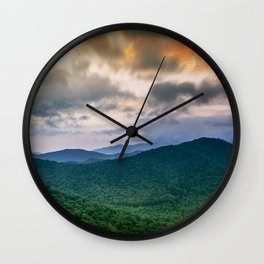 A Scenic Mountain View in Late Spring Wall Clock