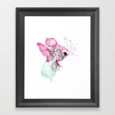 Pisces Baby Framed Art Print